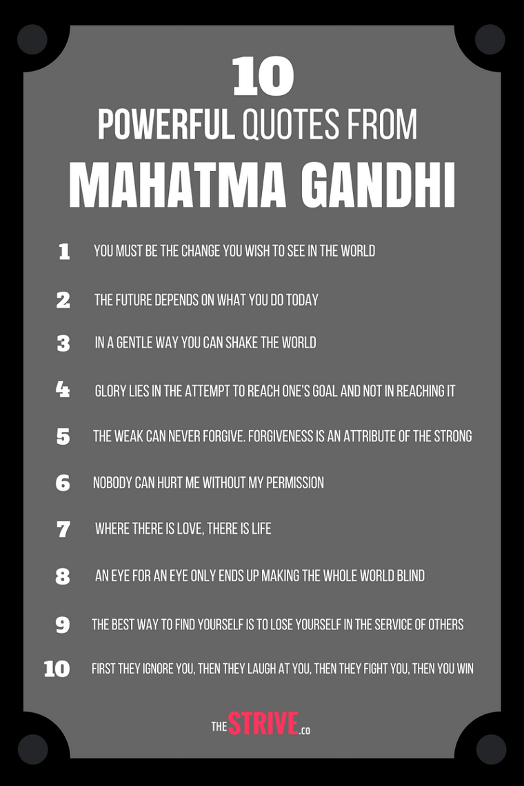 great gandhi advice