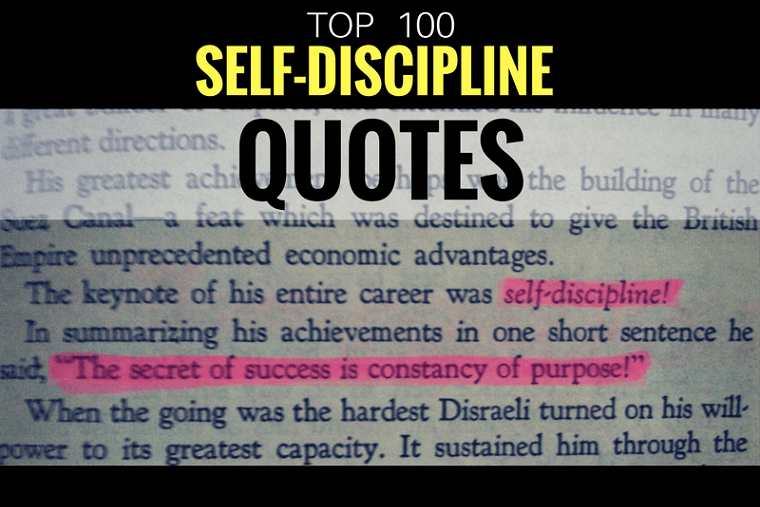 100 Inspirational Quotes On Self Discipline The Strive