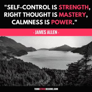 James Allen Self-Control Quote