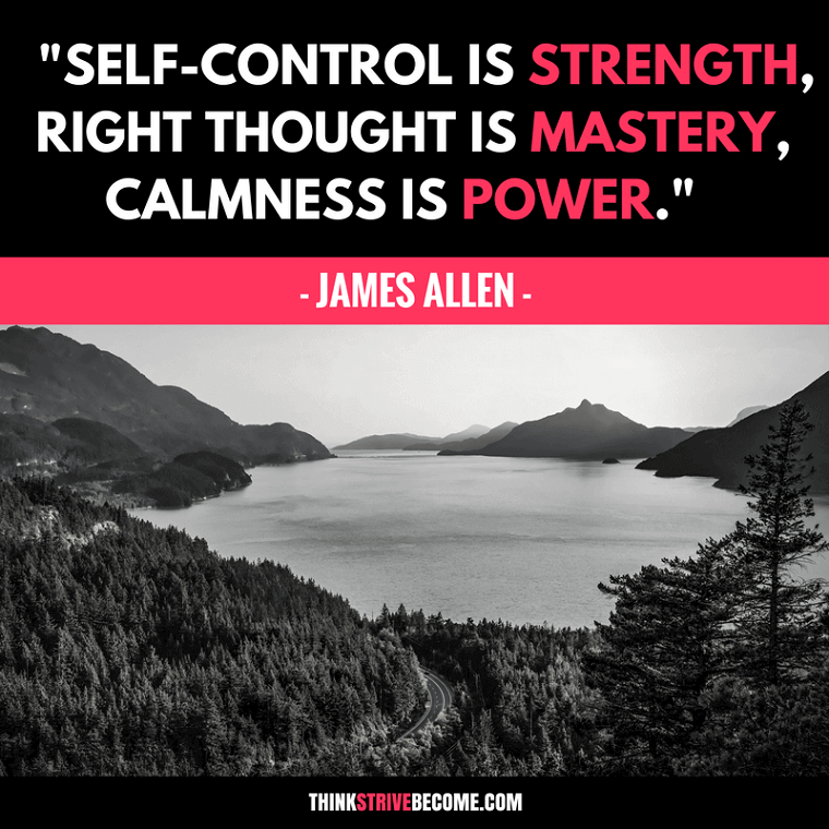 James Allen Self-Control Quote