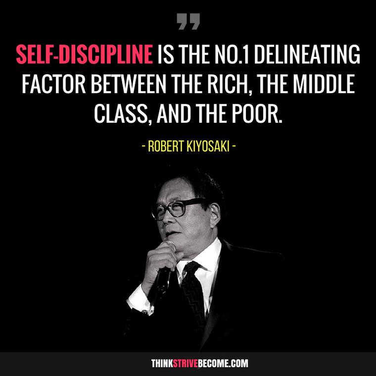 rober kiyosaki discipline quote