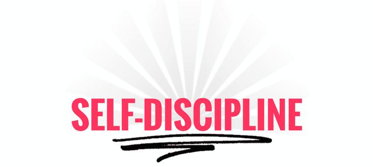 the real secret is self discipline