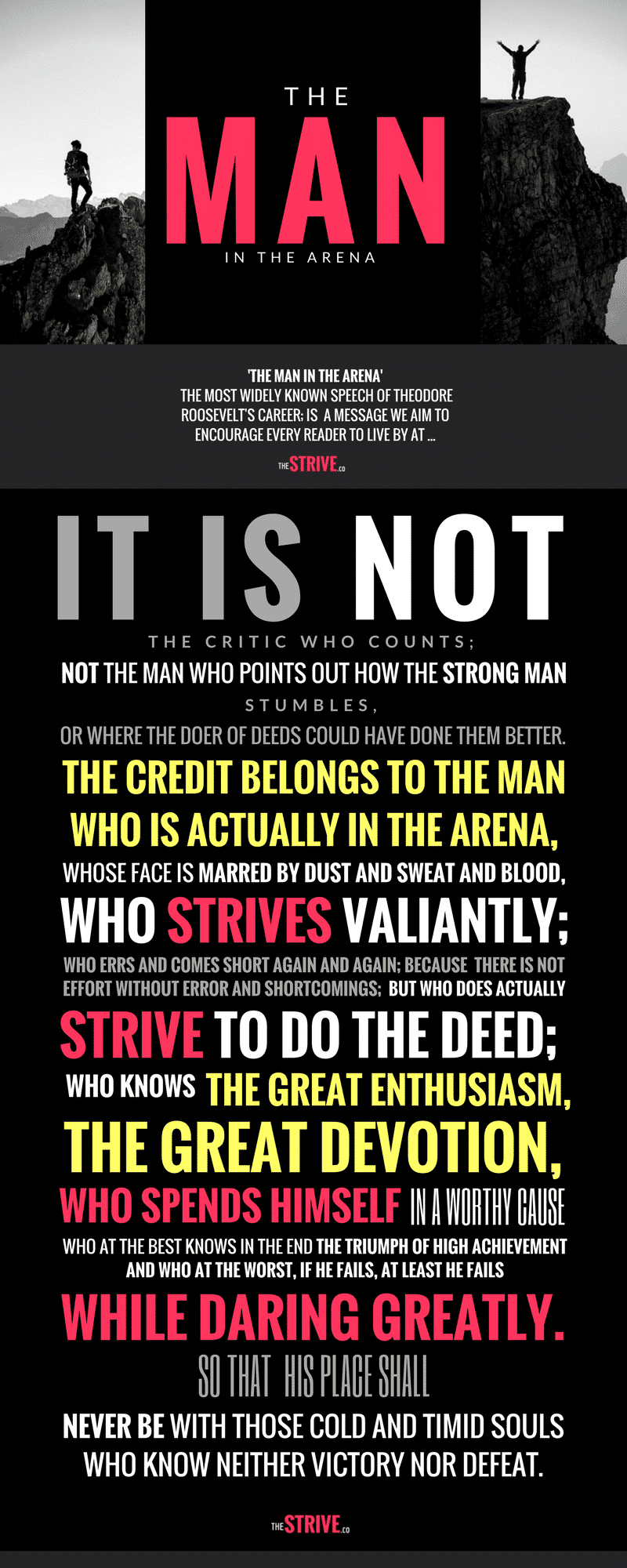 The Man in The Arena Quote