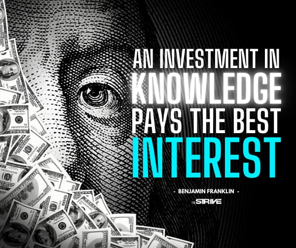 Benjamin Franklin Quote Knowledge Pays
