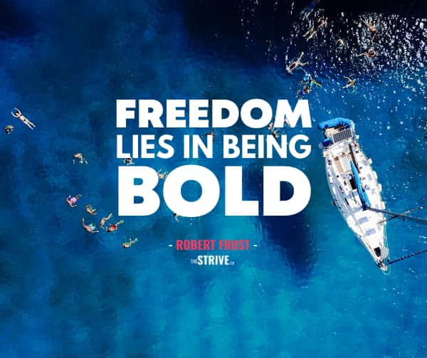 Freedom and Bold Quote