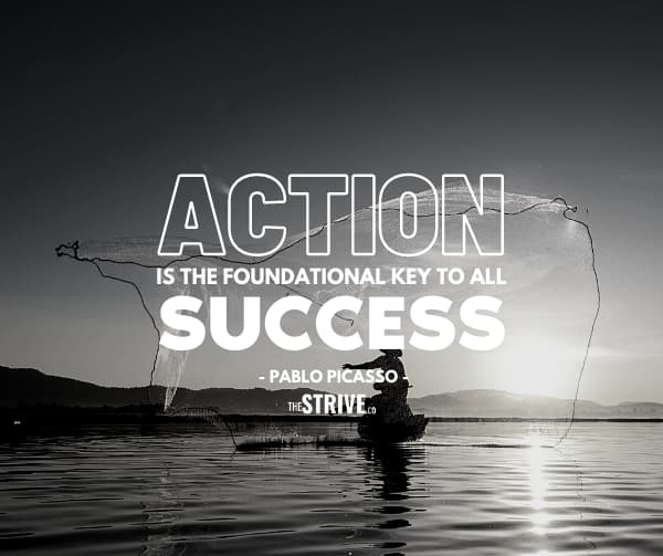 Action and Success Quote