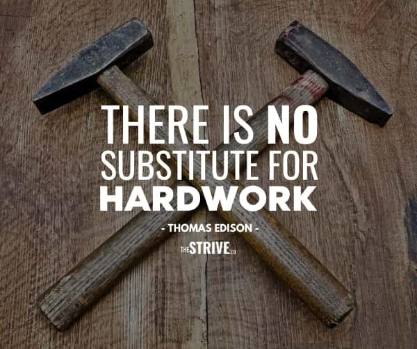 Edison Hard Work Quote