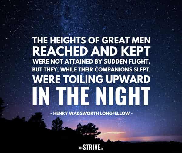 Heights of Great Men Quote