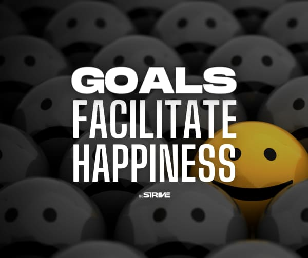writing down your goals facilitates happiness