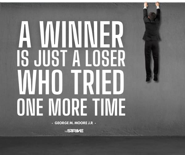 Winner's Keep Trying Quote