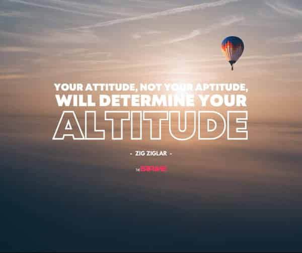 Zig Ziglar Quote on Attitude
