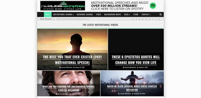 Inspirational Website Fearless