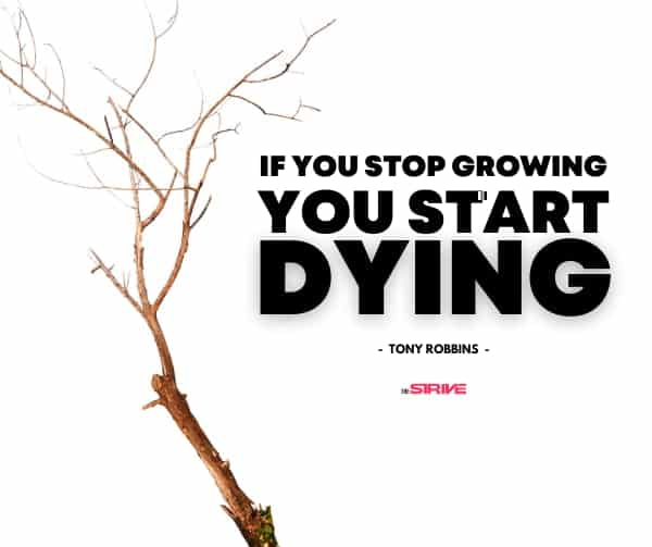 Tony Robbins Quote on Dying Inside