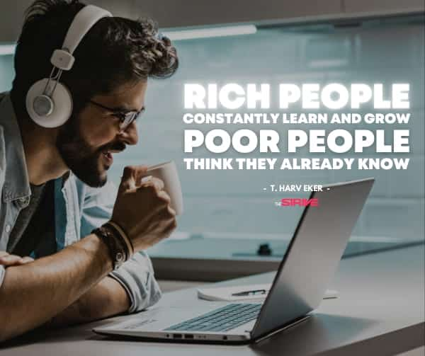 Rich People Learn and Grow Quote