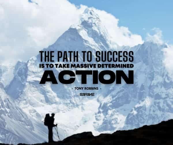 Massive Action Quote - Tony Robbins