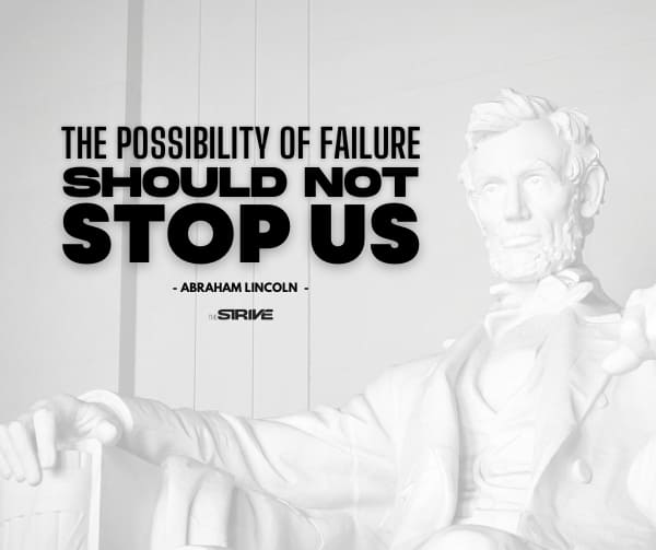 Abraham Lincoln Success Quote on Failure
