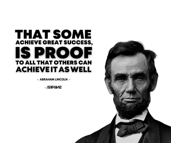 Abraham Lincoln Success Quote