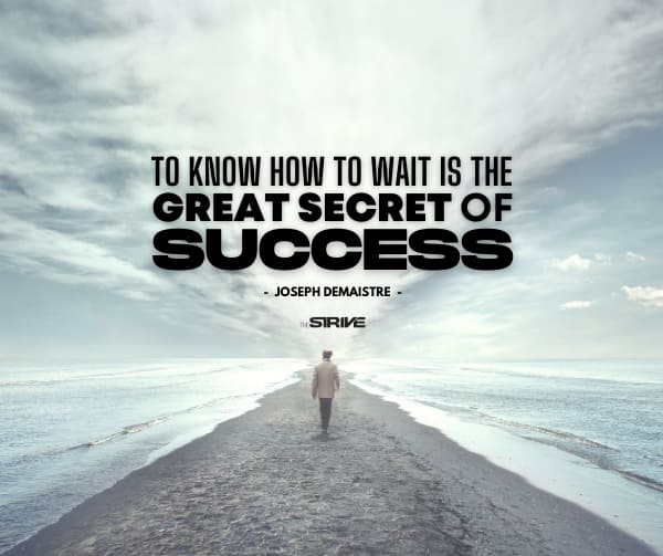 Success and Patience Quote