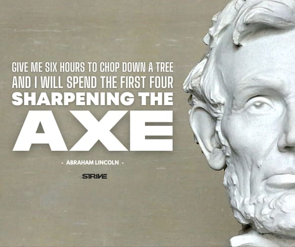 abraham lincoln axe quote
