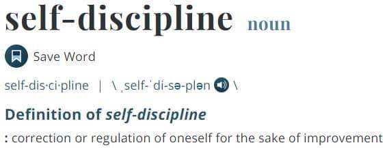 Self-Discipline Definition