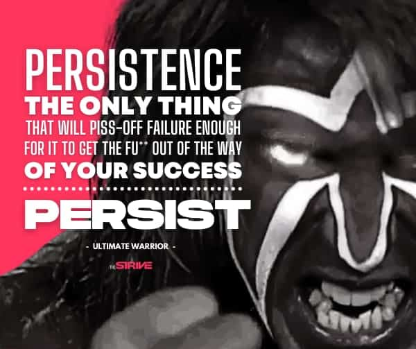 Persistence Quote by Warrior