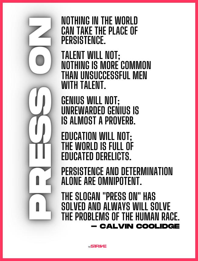 Calvin Coolidge Persistence Quote
