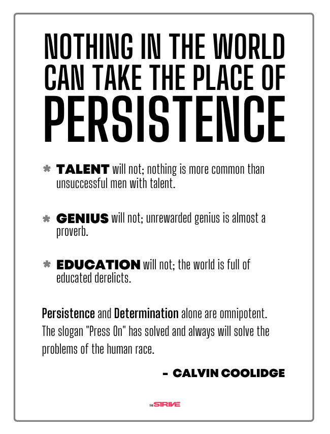 Calvin Coolidge Quote on Persistence