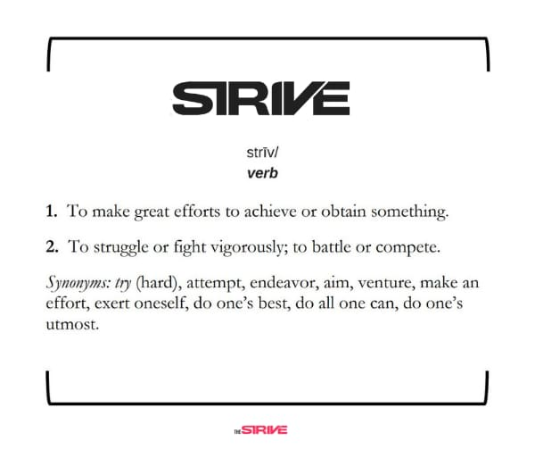 Definition of Strive