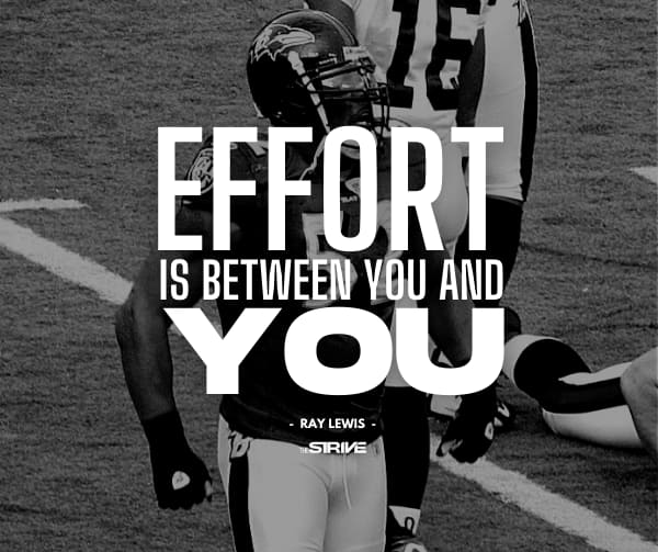 Effort is Between You and You Quote