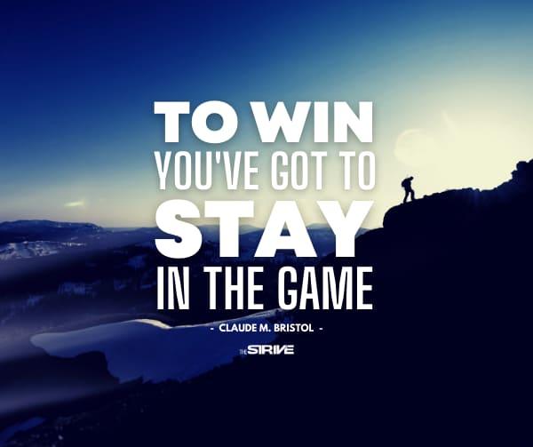 Claude Bristol Quote on Winning