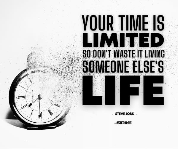 your time is limited steve jobs quote