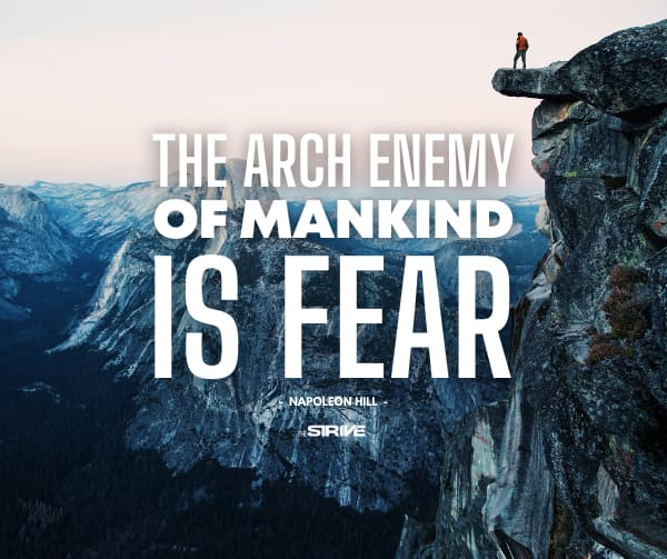 Fearless Quote by Napoleon Hill