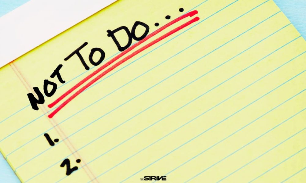 not to do list