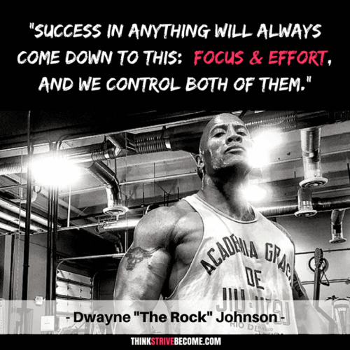 Dwayne Johnson Success Quote on Effort